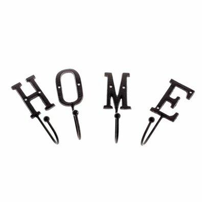 Sada 4 ks liatinových háčikov Home