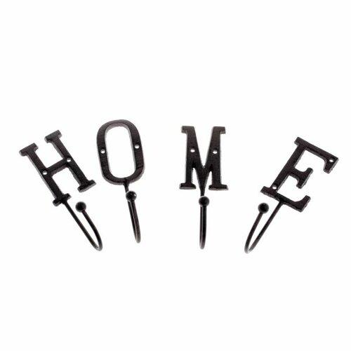 Sada 4 ks litinových háčků Home
