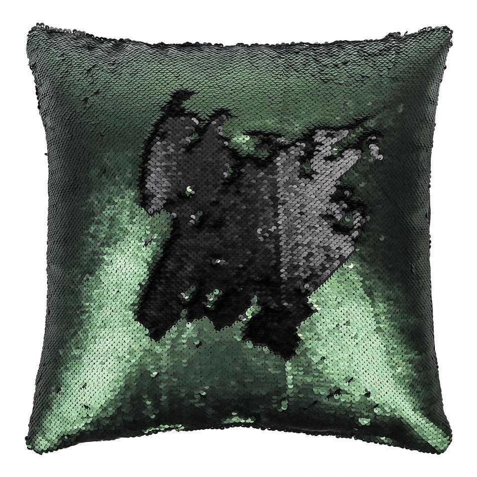 Koopman Polštářek s flitry tmavě zelená, 45 x 45 cm