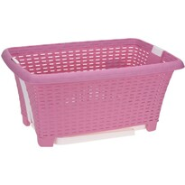 Coș de rufe Koopman, pliabil, 38 l, roz
