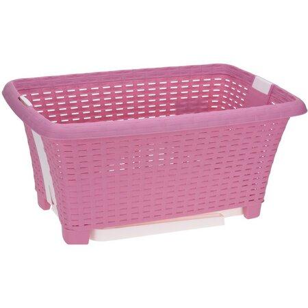 Összerakható szennyestartó kosár, 38 l, rózsaszín