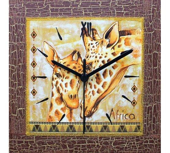 Nástenné hodiny Žirafy 22 x 22 cm