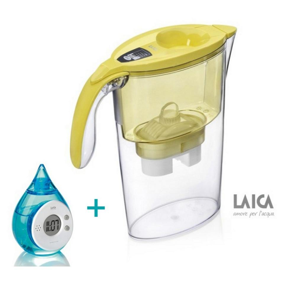 Filtračné kanvice Stream line, Laica + filter Bi flux, žltá