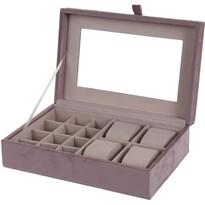 Koopman Beautify ékszertartó doboz tükörrel, rózsaszín