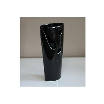 Keramická váza čierna, 27 cm