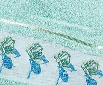 Sada 3 ks ručníků, zelená
