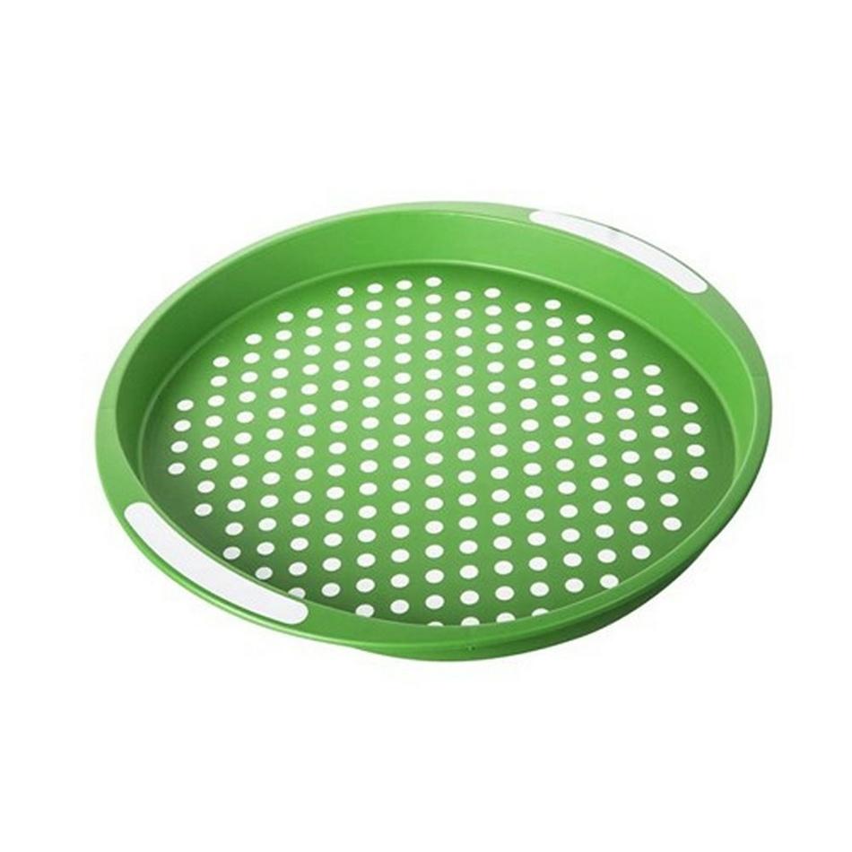 Banquet Tác zelený puntík pr. 40 cm, guľatý