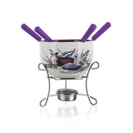 Banquet 6dílný set na fondue Lavender