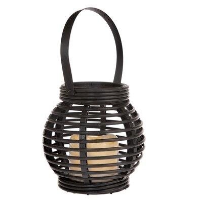 Latarnia ze świeczką LED Lucida, czarny, 14 x 13 x 14 cm