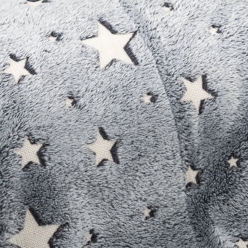 4Home Deka Soft Dreams Stars svíticí šedá, 150 x 200 cm