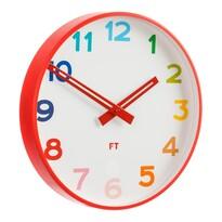 Future Time FT5010RD Rainbow red Detské nástenné hodiny, pr. 30 cm