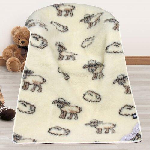 Vlněná deka Evropské merino Ovečka, 100 x 150 cm