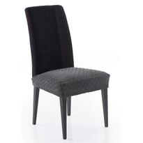 Multielastický poťah na sedák na stoličku Martin tmavosivá, 50 x 60 cm, sada 2 ks
