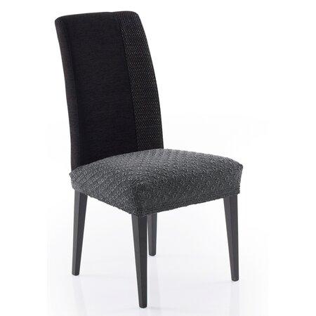 Multielastický potah na sedák na židli Martin tmavě šedá, 50 x 60 cm, sada 2 ks