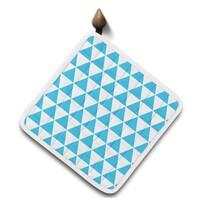Domarex Home Chef konyhai edényalátét, kék, 20 x 20 cm