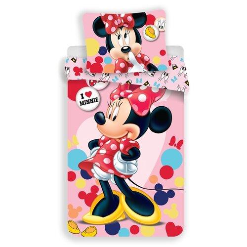 Jerry Fabrics Dětské povlečení Minnie pink, 140 x 200, 70 x 90 cm