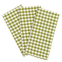 Kocka konyharuha, zöld, 50 x 70 cm, 3 db-os szett