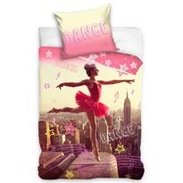 Lenjerie de pat din bumbac Balerină dansatoare, 140 x 200 cm, 70 x 90 cm