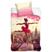 Táncoló balerina pamut ágynemű, 140 x 200 cm, 70 x 90 cm