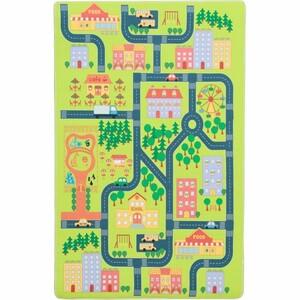 Tempo Kondela Dětský koberec Ebel město, 130 x 200 cm, 130 x 200 cm