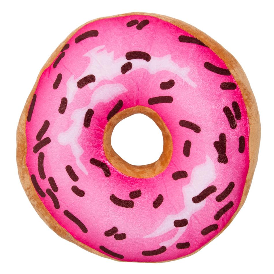 Jahu Tvarovaný polštářek Donut růžová, 38 cm