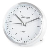Ceas deșteptător Segnale, argintiu, 9 x 2,5 cm