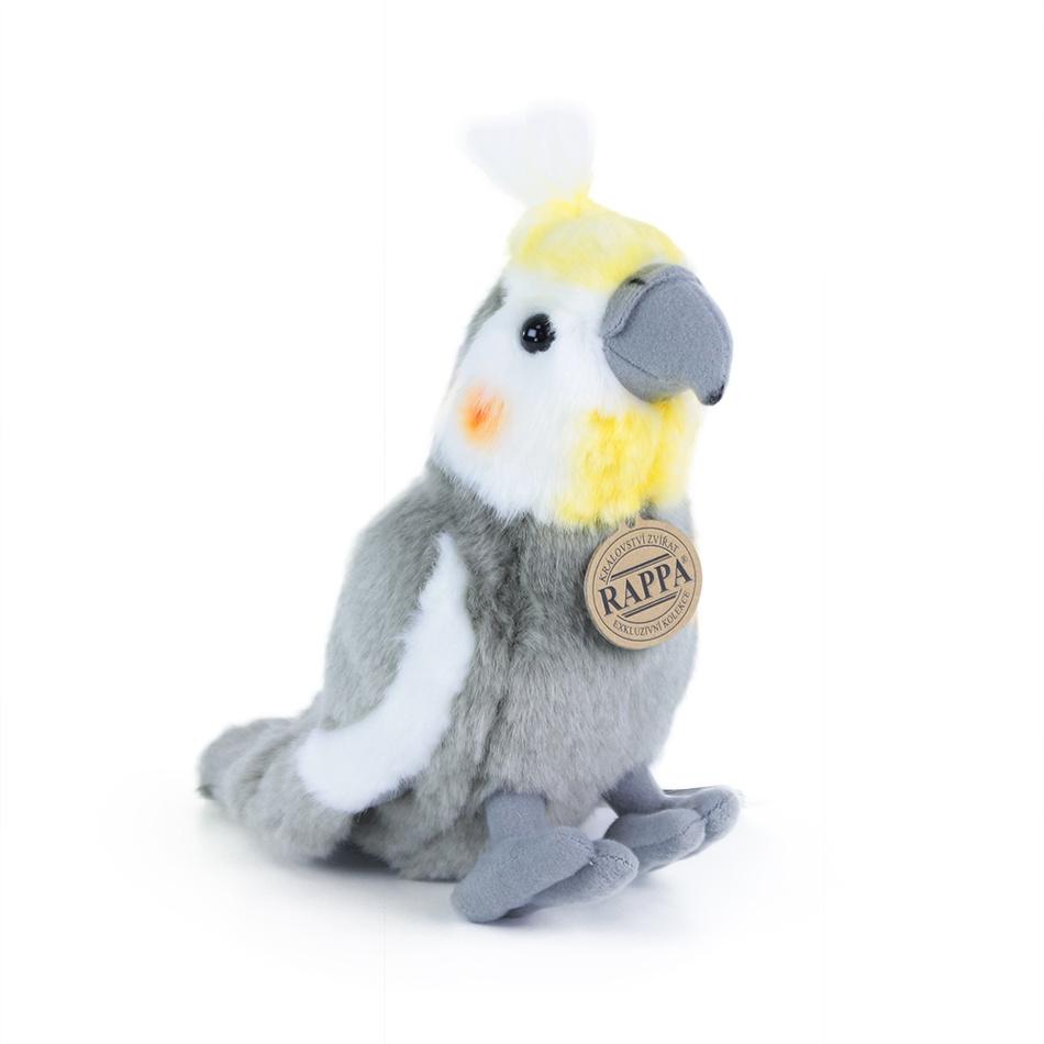 Rappa Plyšový papagáj korela, 20 cm