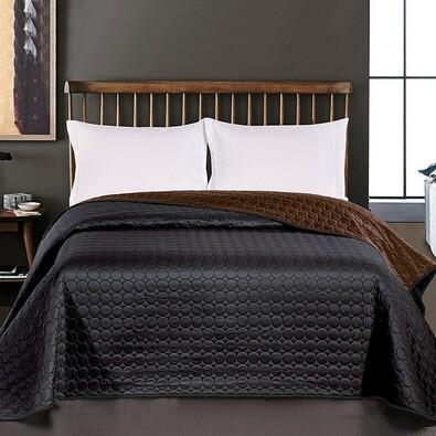 DecoKing Salice ágytakaró, fekete, 240 x 260 cm