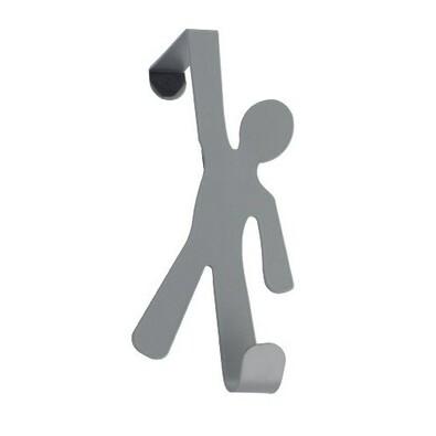 Wenko věšák na dveře šedá