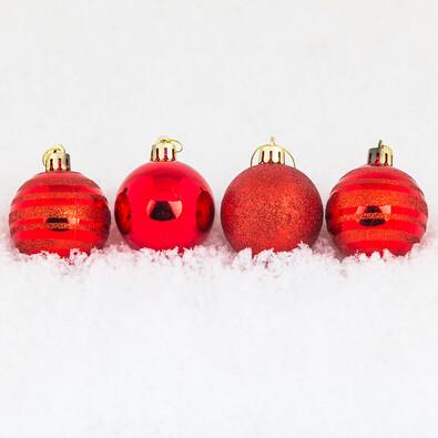 Vánoční koule 12 ks červená