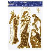 Samolepicí dekorace svatá rodina, 2 ks