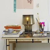 Lampa stołowa Cosy in Grey 32 cm, szara