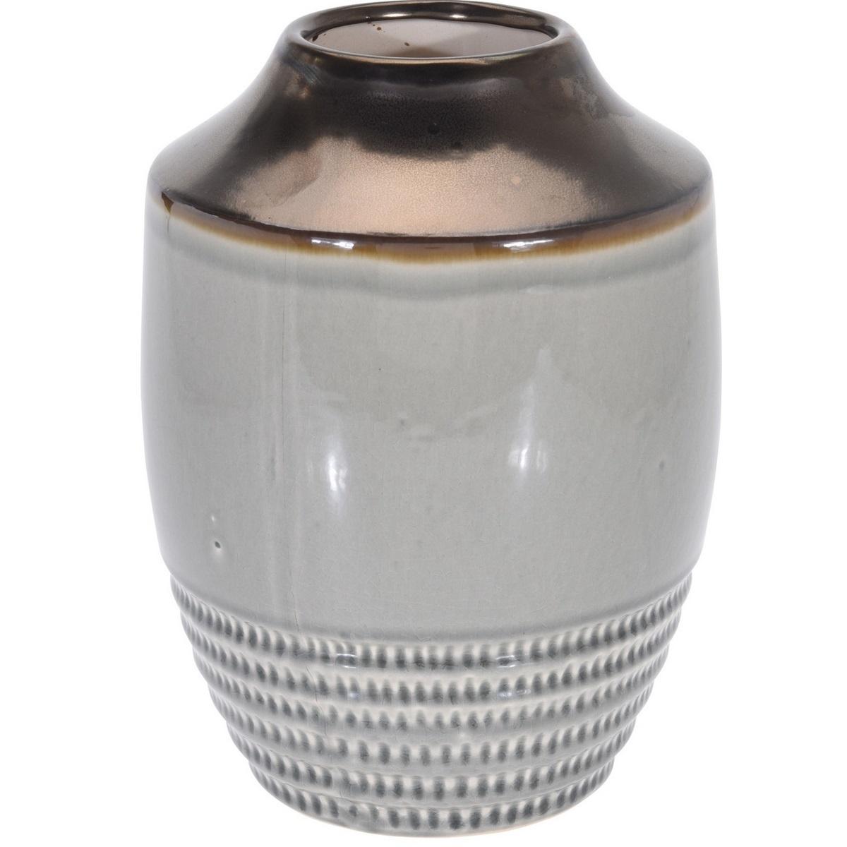 Wazon ceramiczny Anadia szary, 18,5 x 25 cm