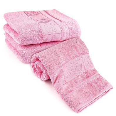 4Home Sada Bamboo růžová osuška a ručníky, 70 x 140 cm, 2 ks 50 x 100 cm