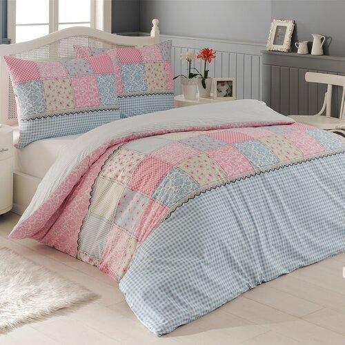 Night in Colours Krepové povlečení Elegante růžová, 220 x 200 cm, 2 ks 70 x 90 cm