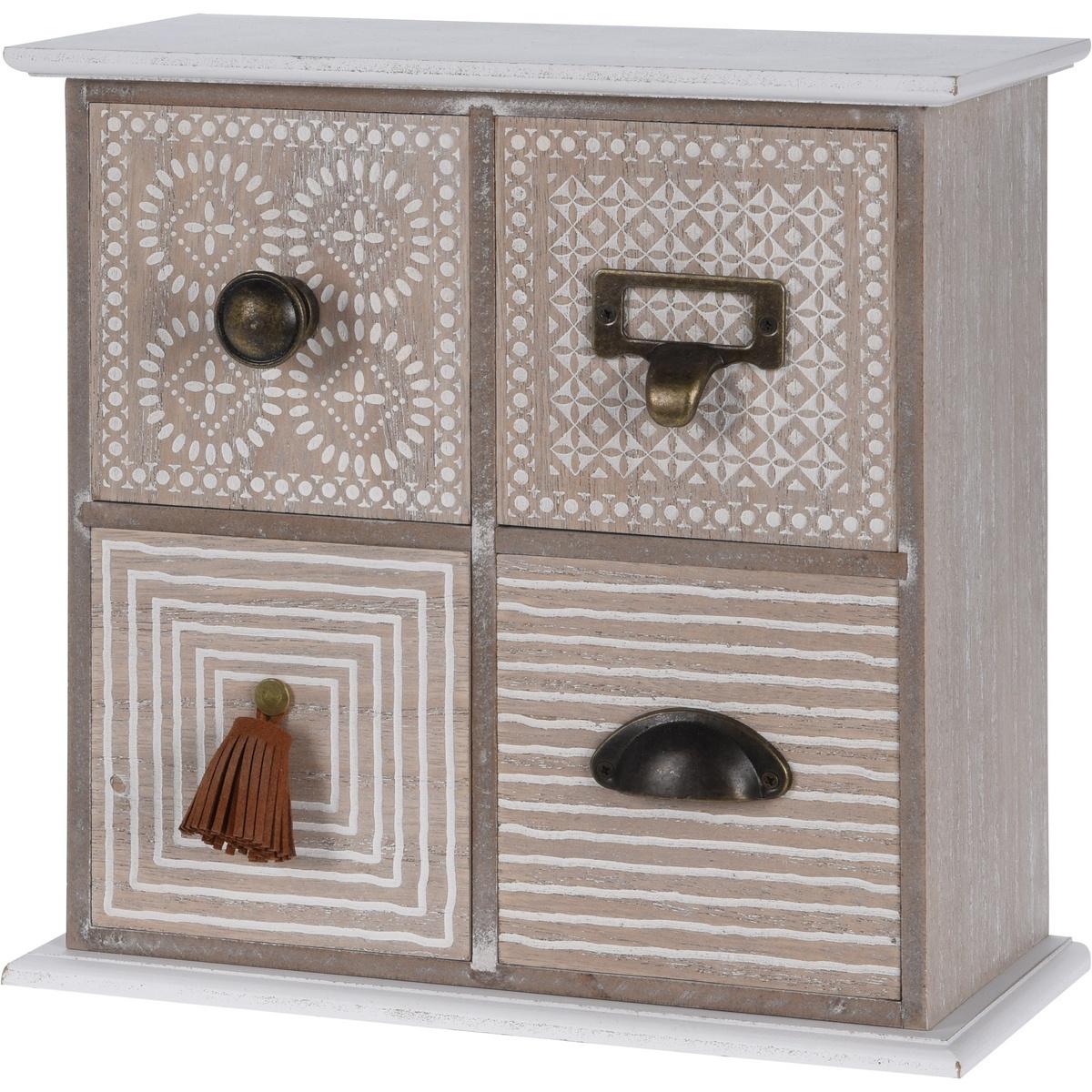 Dřevěná skříňka se 4 šuplíky Maior, 25 cm