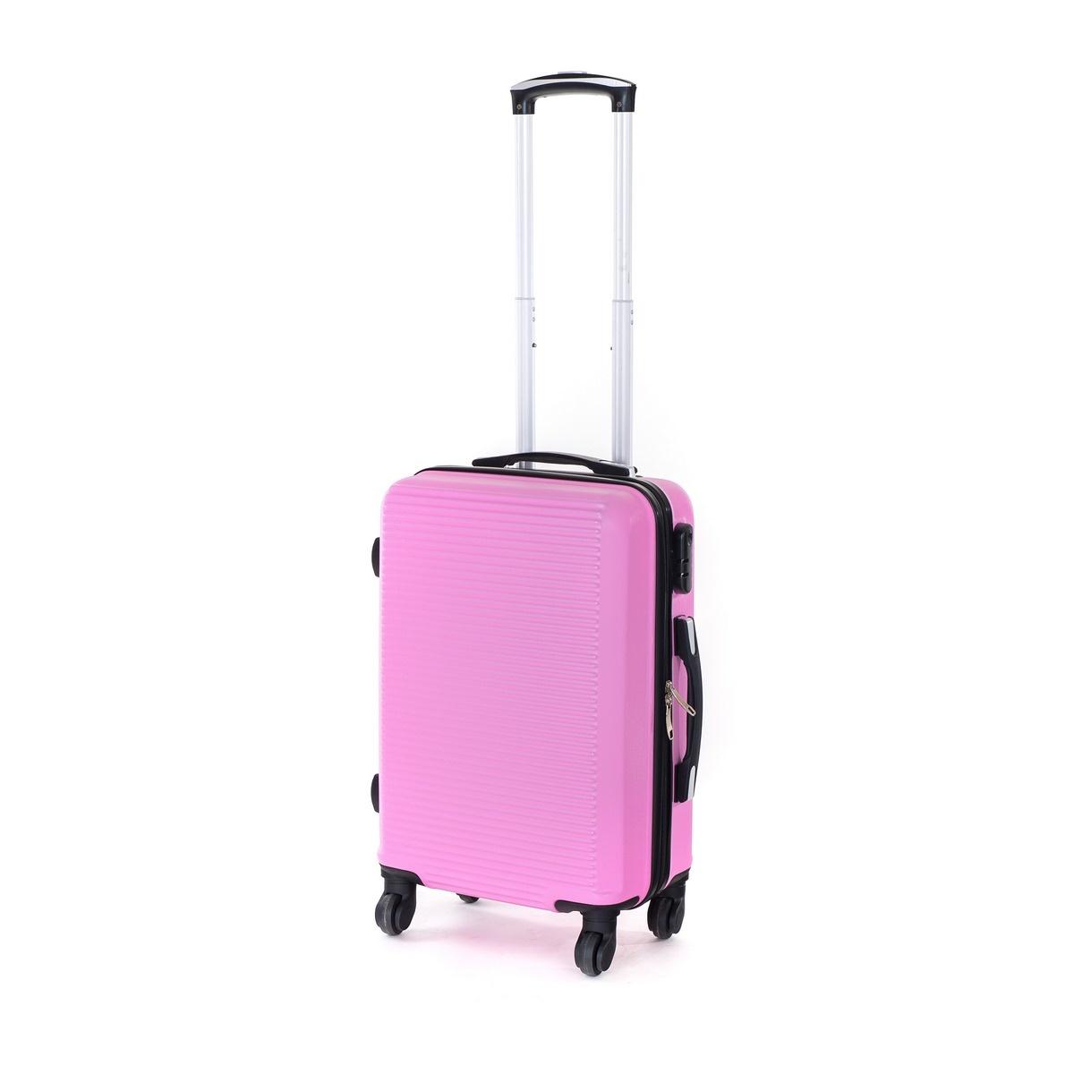 Pretty UP Cestovný škrupinový kufor ABS03 S, ružová