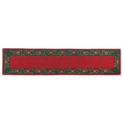 Vánoční ubrus Hvězda červená, 35 x 160 cm