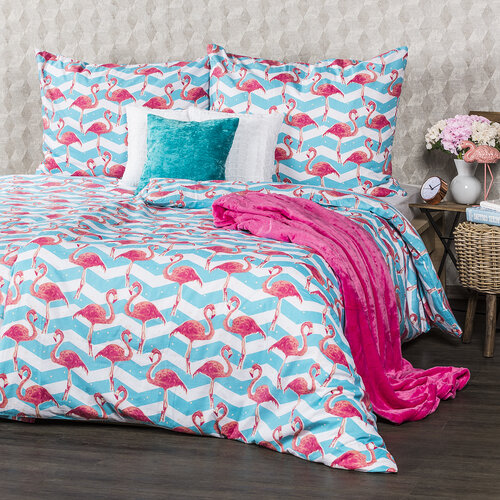 4home Bavlnené obliečky Flamingo, 140 x 200 cm, 70 x 90 cm