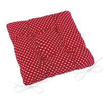Pernă de scaun matlasată Adéla Inimioare, roșu, 40 x 40 cm