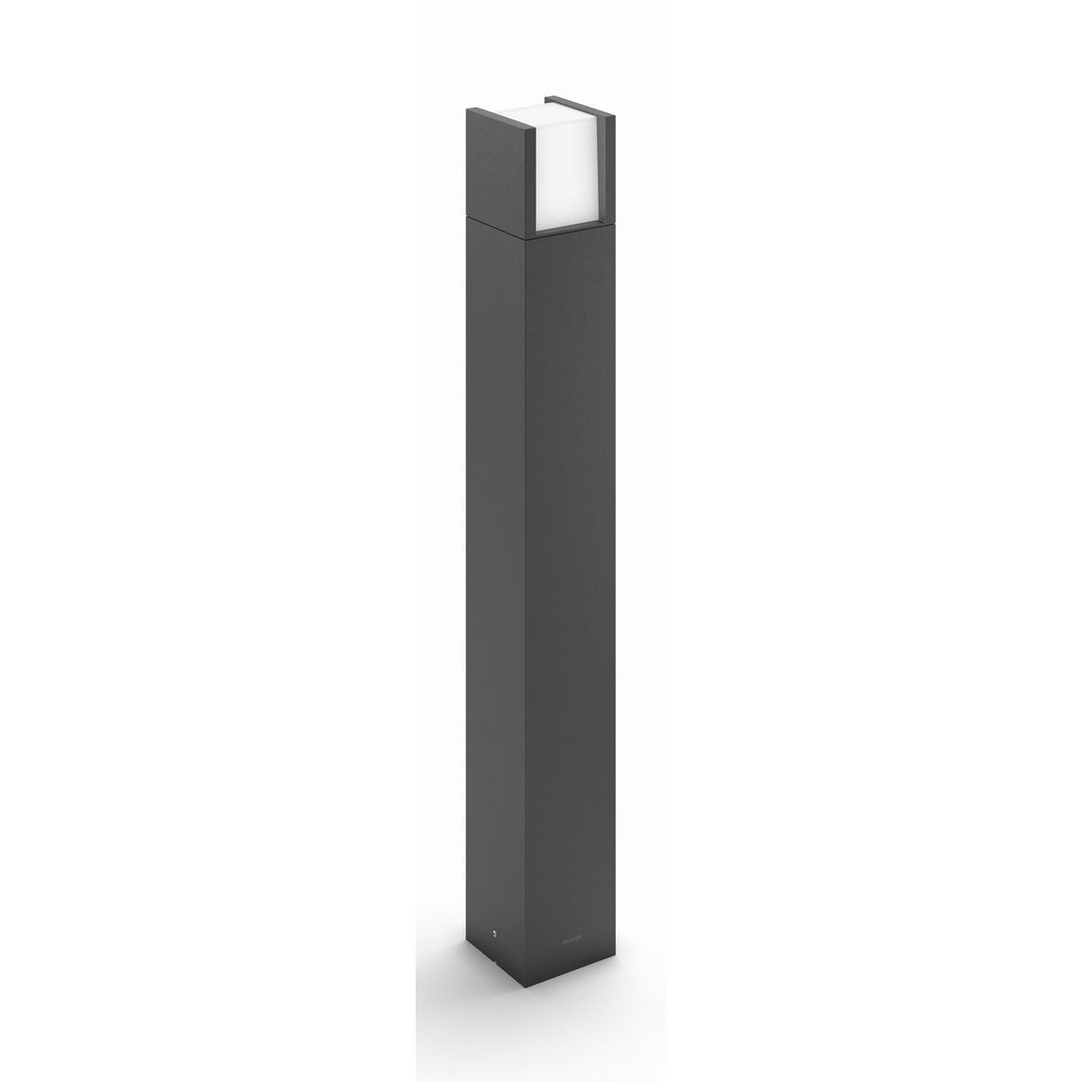 Philips 16463/93/16 Arbour Vonkajšie stĺpikové LED svietidlo 77 cm, antracit