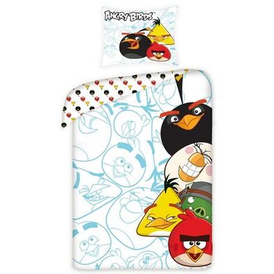 Dětské bavlněné povlečení Angry Birds 5002, 140 x 200 cm, 70 x 80 cm
