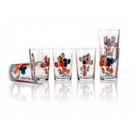 6-dílná sada sklenic Lesní plody