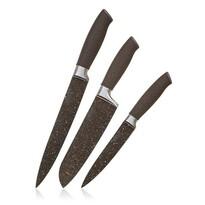 Banquet Komplet 3 noży z powierzchnią nieprzywierającą Premium Dark Brown