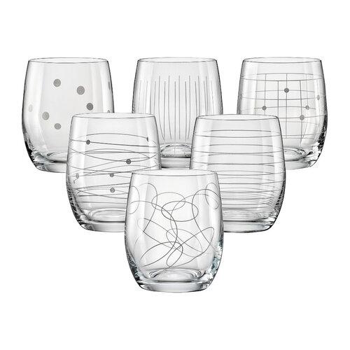 Crystalex 6-częściowy Komplet szklanek do whisky, 300 ml