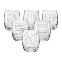 Crystalex 6-dielna Sada odlievok na whisky, 300 ml