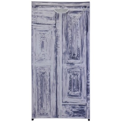 Textilná šatníková skriňa 75 x 160 x 45 cm, Antik