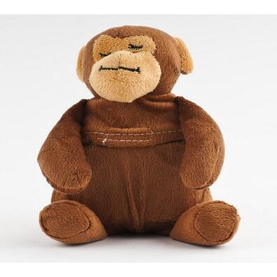 Hřejivý plyšák, opička, hnědá
