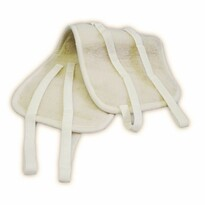 Ledvinový oboustranný pás z ovčí vlny, přírodní