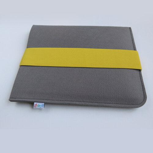 Pouzdro na tablet se žlutou gumičkou